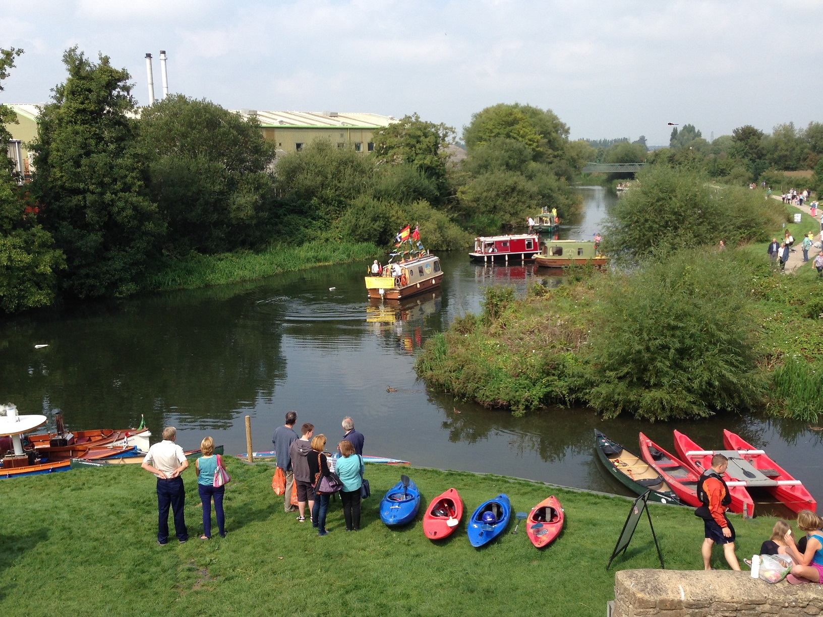Boats on the River Avon for the Melksham River and Food Festival 2014
