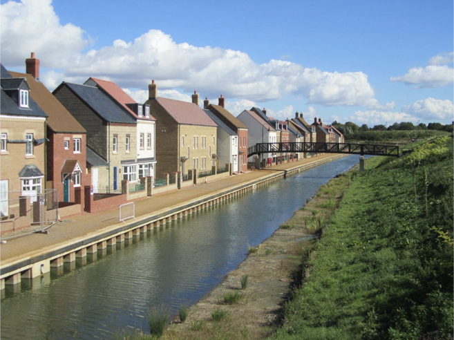 Houses by the canal at east wichel